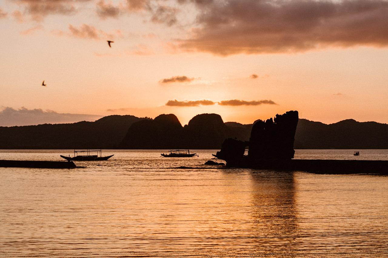 Zachód słońca na Filipiny, Palawan