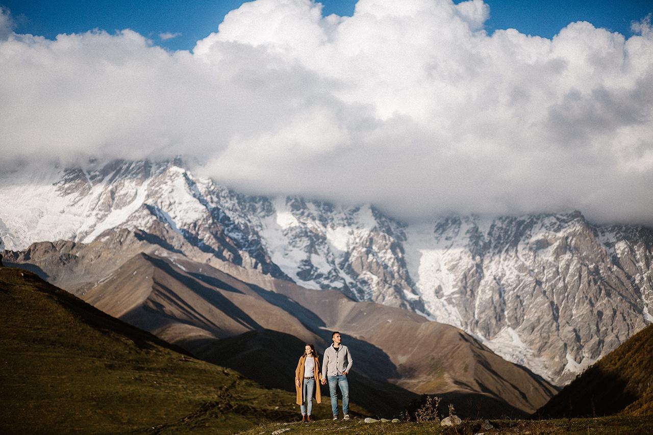 Sejsja narzeczeńska w górach Svaneti, Gruzja