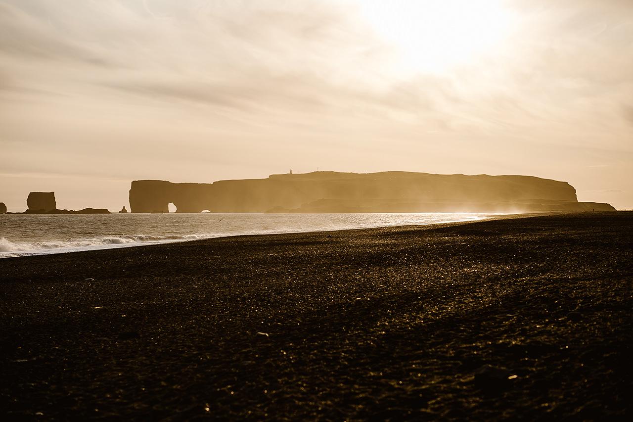 Fotografia ślubna Islandia - zachód słońca i plaża
