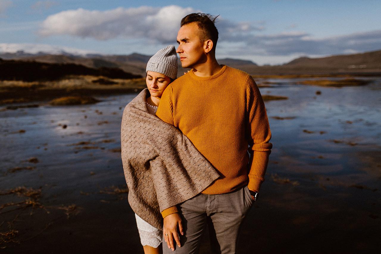Fotografia narzeczeńska - sesja plenerowa na Islandii